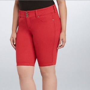 Torrid Red Shorts Size 14